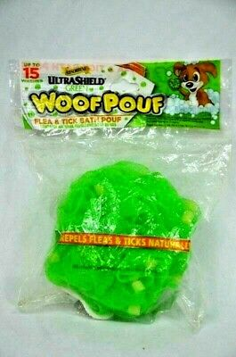 Dog Soap Sponge with UltraShield Natural Flea Tick Repellent Woof Pouf Brand New
