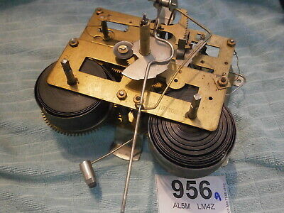 CLOCK MOVEMENT KOREA Foreign 8 Day wall mantle parts spares pendulum leader 956A