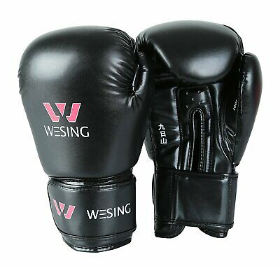 Wesing leather boxing gloves and headgear MMA Training Sparring sets equipments