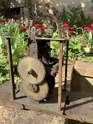 Antique Early LONGCASE GRANDFATHER CLOCK Bird Cage Movement . No Reserve