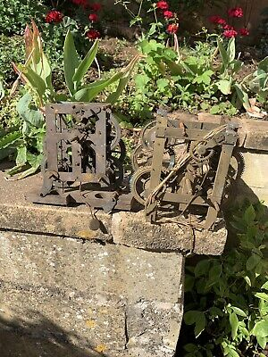 Antique Clock Movements X2  ( Pair ) Maybe American ? . No Reserve