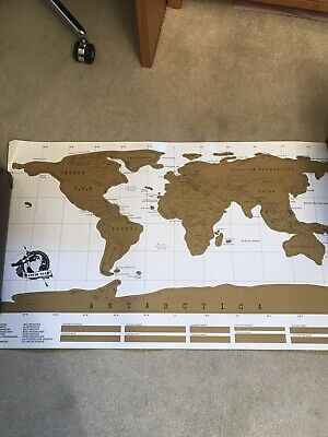Large Scratch Off World Map Poster - Vacation Holiday Log