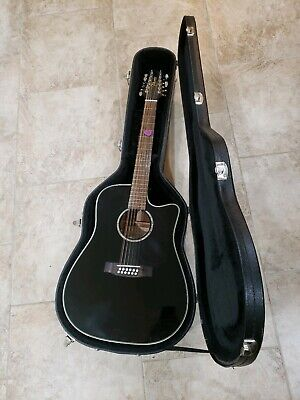 Takamine EGC531SSC-12 12 String Acoustic Electric Guitar with Case - Black