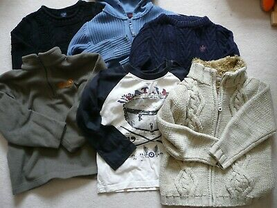 6 X Bundle Of Age 4 5 Next Gap Jumpers Tops Cardigans Boys Blue