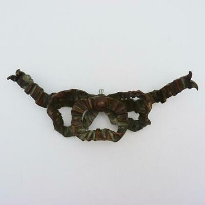 Antique French Cast Bronze Mount In The Form Of A Tied Bow, 19Th Century