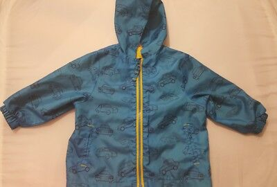 Miniclub Baby Boys Blue raincoat Jacket Outerwear pack it away 9-12 months