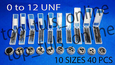 """4x 7//32/"""" x 28 BSF TPI HIGH CARBON STEEL TAPS AND DIE PLASTIC BOXED"""