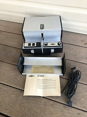 Vintage Working Sawyer Rotomatic 707 Q Slide Projector With Remote And Cord