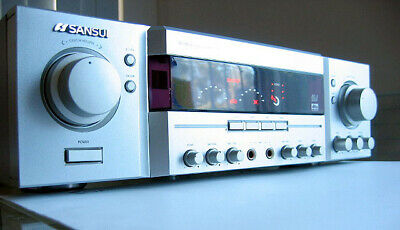 SANSUI RZ-4800 karaoke power amplifier Mic Aux input Echo Delay FX 5.1 Surround