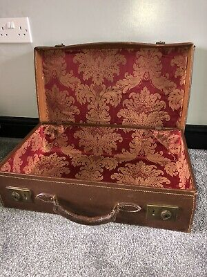 Vintage Reclaimed Briefcase With Handmade Puppet