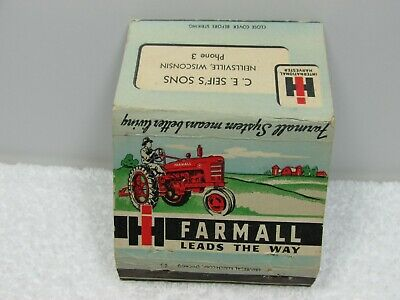 Vintage Tractor Farmall Neillsville WI Vintage Matchbook Cover
