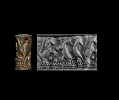 Mesopotamian Babylon Early Dynastic II Silver Cylinder Seal 28th-27th c BC
