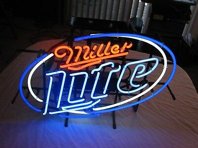 Miller Lite Neon Bar Light, Promo Sign # 3755