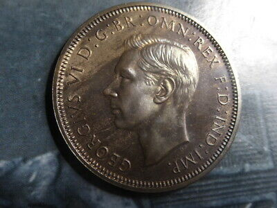 half penny coin 1937 proof started toning