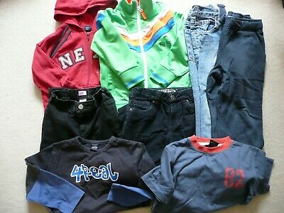 8 X BUNDLE OF AGE 5 6 NEXT JUMPERS JEANS CORDS HOODIE TOPS BOYS 110 cm BLUE