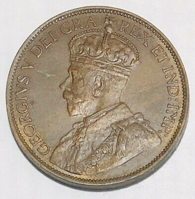 1913 Canada One 1 Cent George V Large Penny
