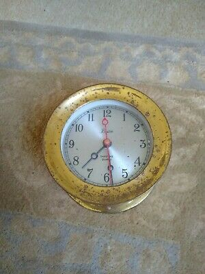 BOSTON Brass ShipStrike Clock Ship Strike   4  85  4