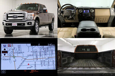 2012 Ford F-350 4X4 Super Duty Lariat Leather GPS Crew 4WD Used Powerstroke Diesel Heated Cooled Seats Camera 13 14 2013 12 Cab