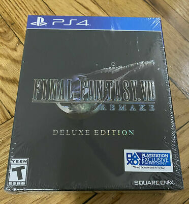Final Fantasy VII: Remake Deluxe Edition (PlayStation 4, 2020, 7) Ready To Ship!