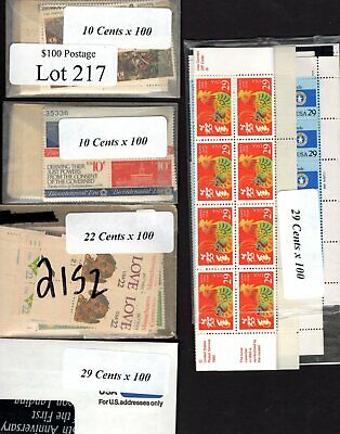 US Postage Below Face, $100 for only $69.95, FREE SHIPPING, Mint stamps  Lot 217