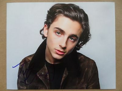 "Timothee Chalamet Signed //Autographed Photo ""Call Me by Your Name"""