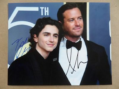 "Timothee Chalamet, Armie Hammer Signed :Autographed Photo ""Call Me by Your Name"""