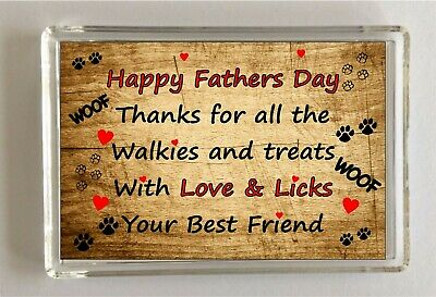 Birthday Funny Gifts From The Dog Novelty Dog Dad Gifts Fridge Magnet Puppy