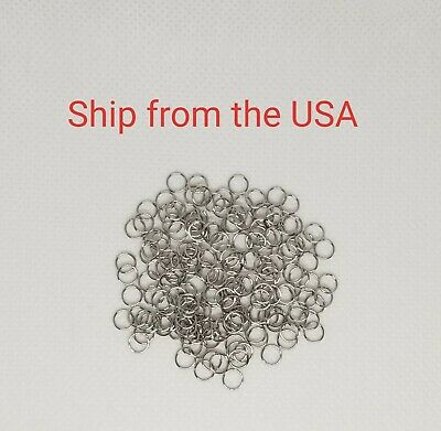 100 PCs Stainless Steel Jump Rings, 5 mm