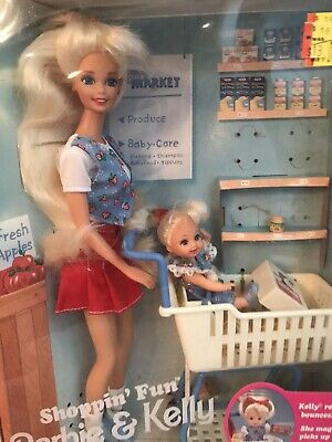 Shoppin' Fun Barbie & Kelly Baby Sister Shopping 1995 Vintage Mattel 15756 NRFB