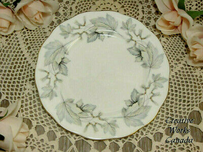 ROYAL ALBERT Silver Maple Bread Butter Plate Replacement Vintage Bone China Dish