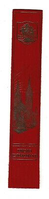 Truro Cathedral. Red Leather English Bookmark.