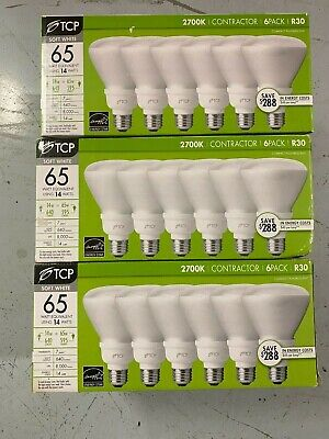 light bulbs tcp 2700k contractor 3 x 6 pack R30