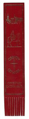 Coventry Cathedral. Red Leather English Bookmark.