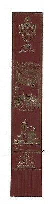 Guildford. Burgundy Leather English Bookmark.