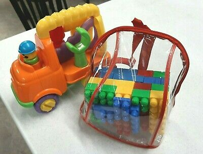 Plastic Toys Children Toddler Building Blocks Tools Truck Zipper Pack
