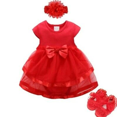 Baby Girls Infant newborn Dress Summer Kids wedding Party Birthday Outfit