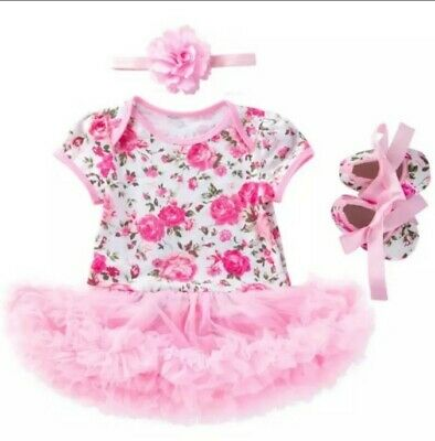 Baby Girls Infant newborn Dress Summer Kids wedding Party Birthday Outfits
