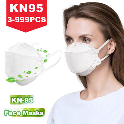 Safety KN95 Face Mask Respirator Disposable 5-Layer Masks Protective Mouth Cover