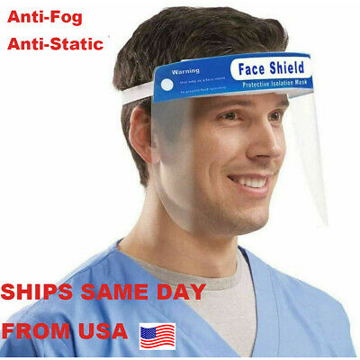 1 PC Safety Full Face Shield Reusable Washable Protection Cover Face Mask