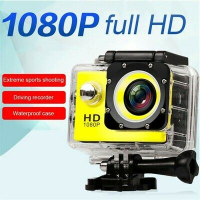 USA 1080P HD Sports Camera WIFI Mini DV Carry Case Bundle Action Camcorder