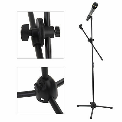 Metal Professional Boom Microphone Mic Stand Holder Adjustable With 2 Free Clips