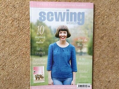 Sewing World magazine January 2017. With patterns intact.