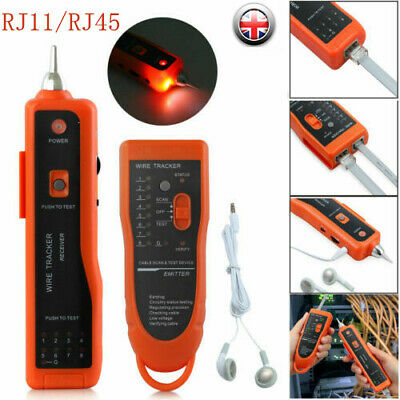 Telephone Network RJ45/11 Cable Wire Probe Tracker Tester Tone Generator Finder