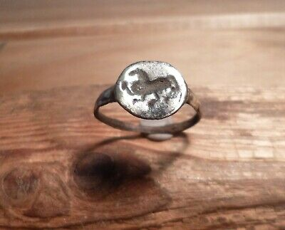 Stunning Romano Celtic Ring With Horse Impression-Metal Detecting Find