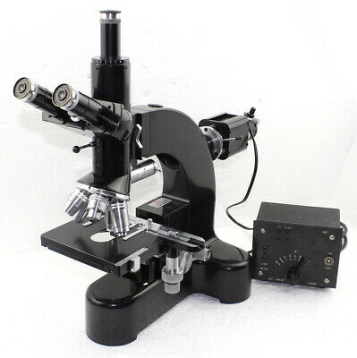 Leitz Wetzlar Ortholux / Metallux Trinocular Microscope with Quintuple Turret