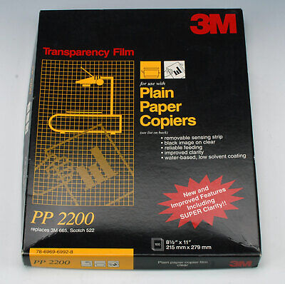 3M PP2200 Transparency Film For Copiers 950 Sheets 8½ x 11 New Sealed Open Box