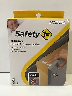 Safety 1st Adhesive Cabinet & Drawer Latches (8-Pack) SIMPLE 2 INSTALL No Tools
