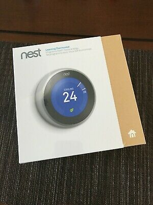 Nest Learning Thermostat Third Generation - Stainless Steel (T3007EF) Brand New!