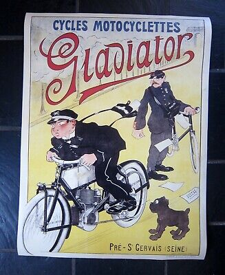 Affiche Cycles Et Motocyclettes Gladiator