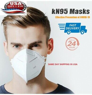 Qty 10 KN95 Face Masks - Disposable Mouth Cover Protective Covers